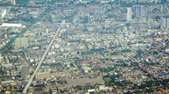Aerial View of a Major Metropolitan City Stock Footage