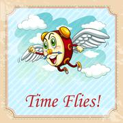 Old saying time flies Stock Illustration