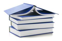 Blue Hard Cover Books Stock Photos