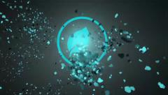 Stock After Effects of Hurried Particle Flow Logo