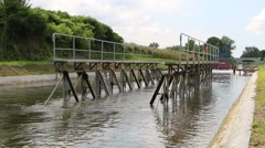 A unique monument of hydraulic engineering The ramps on the Canal Elblag Pola Stock Footage