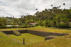 Tulipe Archaeological site museum, Ecuador Stock Photos