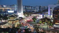 Seoul street time lapse Stock Footage