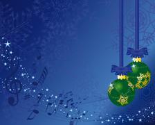 christmas card - stock illustration