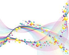 colourful lines - stock illustration