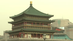 Ancient Drum Tower, Xian, China Stock Footage