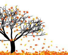 autumn  leaves - stock illustration