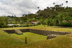 Tulipe Archaeological site museum, Ecuador - stock photo