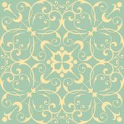 Seamless Wallpaper Pattern Stock Illustration