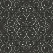 Ornate Scroll Pattern Stock Illustration