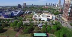 Centennial Olympic Park Aerial 3 - stock footage