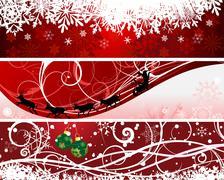 christmas banners - stock illustration