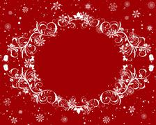 Winter frame background Stock Illustration