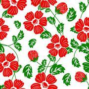 seamless floral pattern - stock illustration