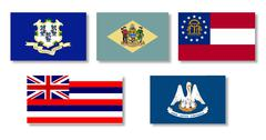 United States State Flag Collection Stock Illustration