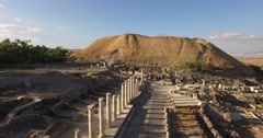 Sweeping aerial 4K view of BEIT SHE'AN, ISRAEL Stock Footage