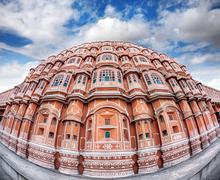 Hawa Mahal in Rajasthan - stock photo