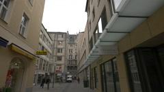 People walking on Sporerstrasse, Munich Stock Footage
