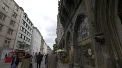 A walk on Weinstrasse, Munich Stock Footage