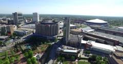 Centennial Olympic Park Aerial 10 - stock footage