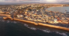 Inspiring Aerial View of ACRE, ISRAEL in 4k - stock footage