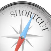 compass shortcut - stock illustration