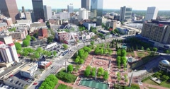 Centennial Olympic Park Aerial 9 Stock Footage