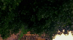 Video panorama of ruins at Bar'am shot in Israel. Stock Footage