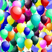 seamless balloons - stock illustration