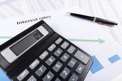 Interest rates - stock photo