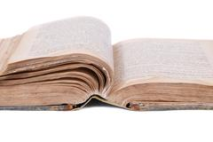 Open old book - stock photo