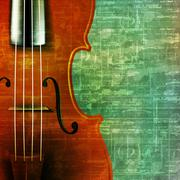 abstract grunge background with violin - stock illustration