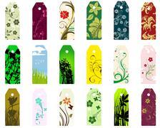 bookmarks set - stock illustration