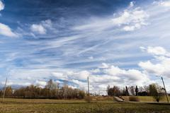 Long cirrus clouds skyscape Stock Photos
