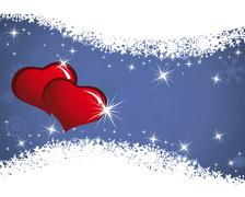 valentine frame - stock illustration