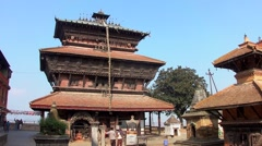 The Bagh Bhairab Temple in Kirtipur, Nepal Stock Footage