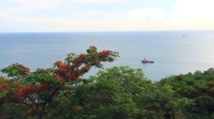 Vietnamese sea view Stock Footage