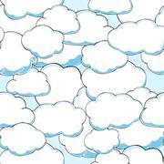 Seamless texture of beautiful clouds. Vector Illustration - stock illustration