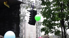 Balloons at concert Stock Footage