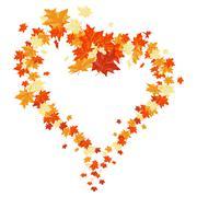 Autumn maples Stock Illustration