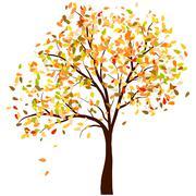 Autumn birch Stock Illustration