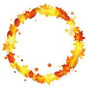 Stock Illustration of maple leaves wreath