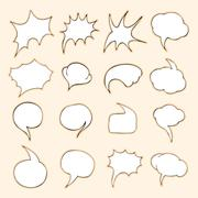 Vector Set of Bubbles. Talk and Think - stock illustration