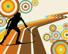 Stock Illustration of biathlon athlete