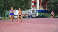 Female Sprinters Stock Footage