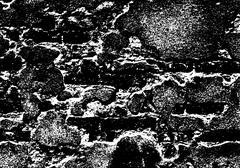 Grunge white and black brick wall background - stock illustration