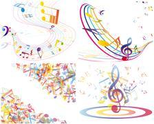 Stock Illustration of Multicolour  musical