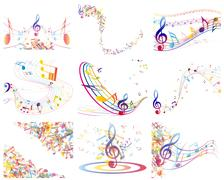 Multicolour  musical - stock illustration