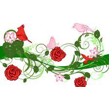 Stock Illustration of floral frame