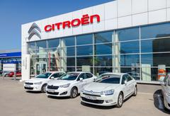Office of official dealer Citroen in Samara, Russia - stock photo